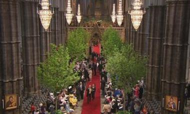 royal wedding guests arrive westminster
