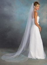chapel lenght wedding veil
