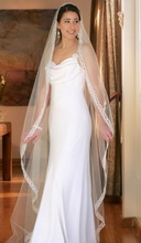 floor-lenght wedding veil
