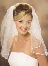 shoulder lenght wedding veil