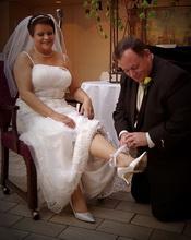 tossing bridal garter