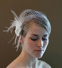 very short wedding veil