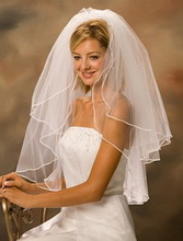 waist lenght wedding veil