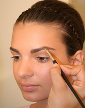 eyebrow bridal makeup
