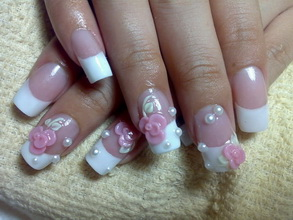 bridal acrylic nails