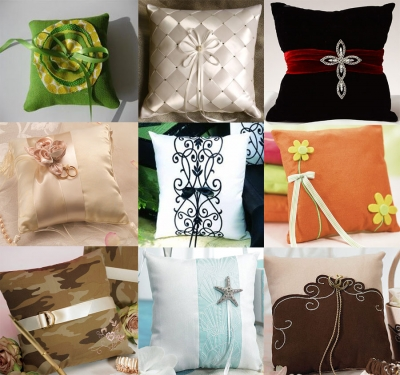 ring pillow with ribon