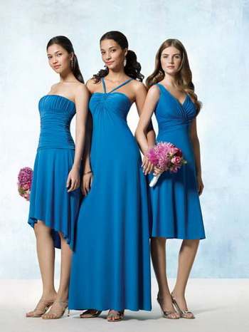 bridesmaid dresses same color diferent style