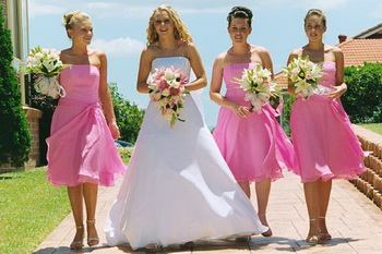 bridesmaid dresses wearher