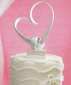 cake topper heart