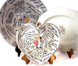 guest book ceramic platter