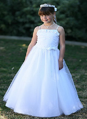 flower girl dress fabric