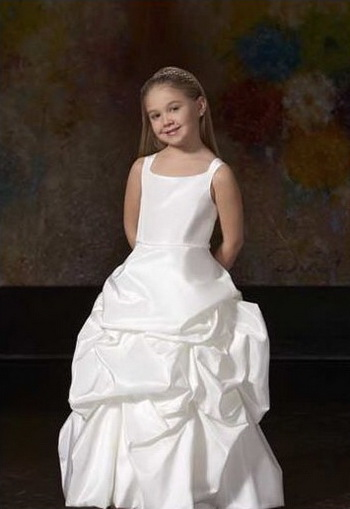 flower girl dress pick up skirt