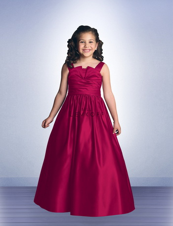 flower girl dress pleated skirt