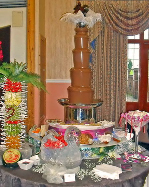 chocolate fountain topper