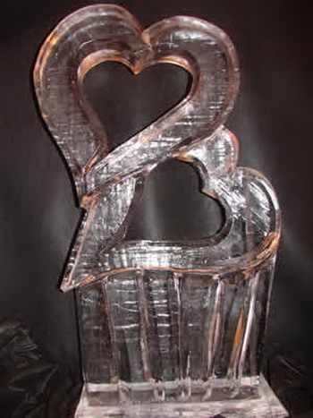 wedding ice sculpture heart