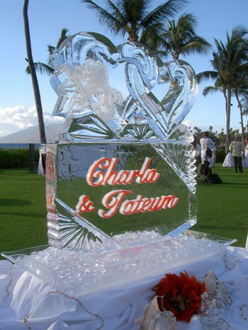 Wedding ice sculpture name
