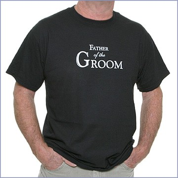 wedding t-shirt father of the groom