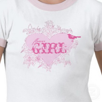 wedding t-shirt flower girl
