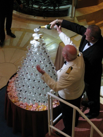 wedding champagne fountain styles