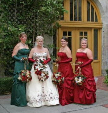 christmas wedding bridesmaids