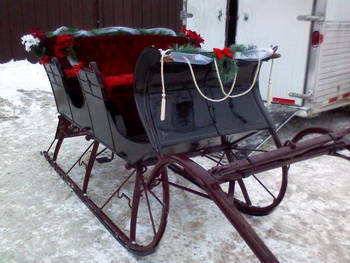 christmas wedding transportation