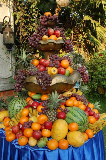 wedding fruit fountain