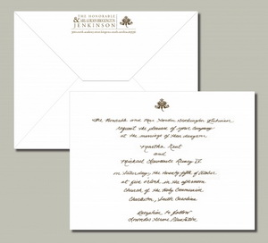 Handwrite personalize wedding invitation