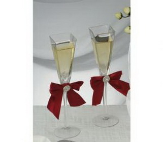 Unique wedding toast flutes