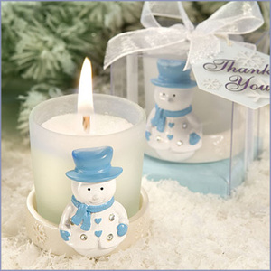 Snowman winter wedding favors