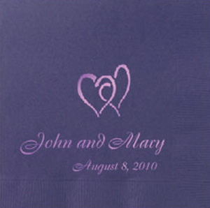 Custom Wedding Napkins Name and Date