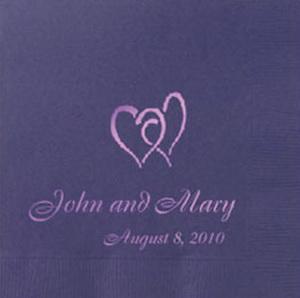 Custom Wedding Napkins Name and Date