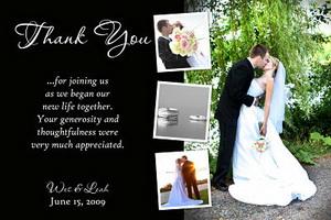 Custom wedding thank you photo cards