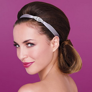 Personalized ribbons for wedding hairstyles