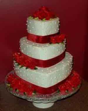 Valentine's Day Wedding Cake