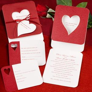 Valentines day vedding invitations
