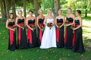 Valentines day wedding bridesmaids attire