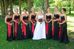 Valentines day wedding bridesmaids attire