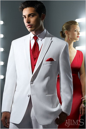 Valentines day wedding groom's wear