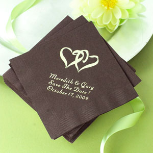 Customized wedding napkins printed