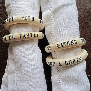 Customized wedding napkins ring