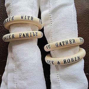 Customized wedding napkins ring