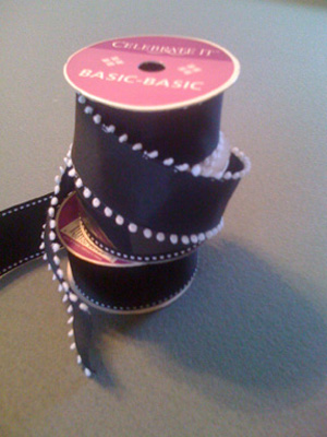 Personalized color wedding ribbons