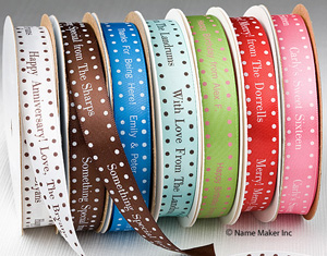 Personalized design wedding ribbons