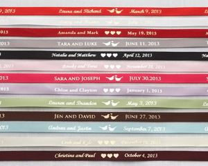 Personalized printing wedding ribbons