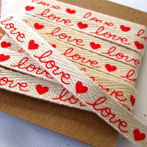 Personalized writing style wedding ribbons