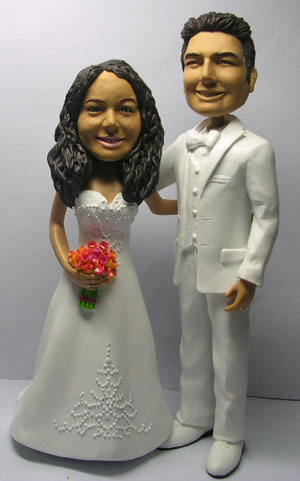 Custom ethnic wedding cake topper