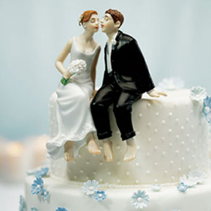 Custom funny wedding cake topper