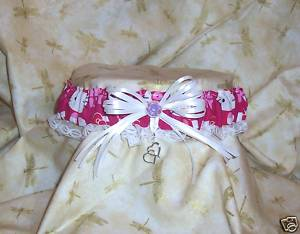 Custom character for wedding garters