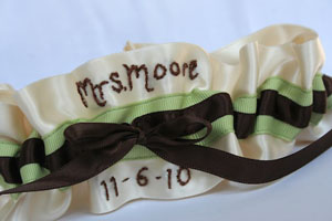 Custom names for wedding garters
