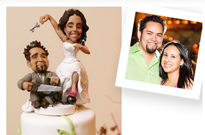 Funny caricature cake topper